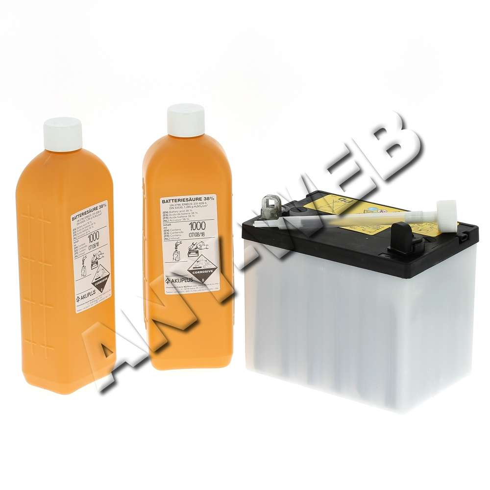 Kit batterie avec acide 12V - 16 AH