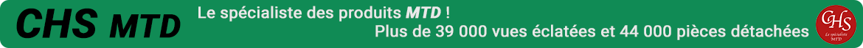 CHS MTD, le spécialiste des pièces détachées de la marque MTD